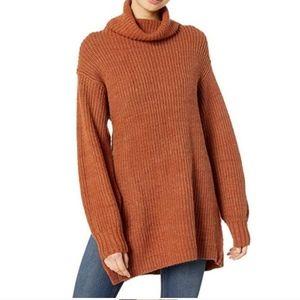 Free People Eleven Burnt Orange Oversized Sweater